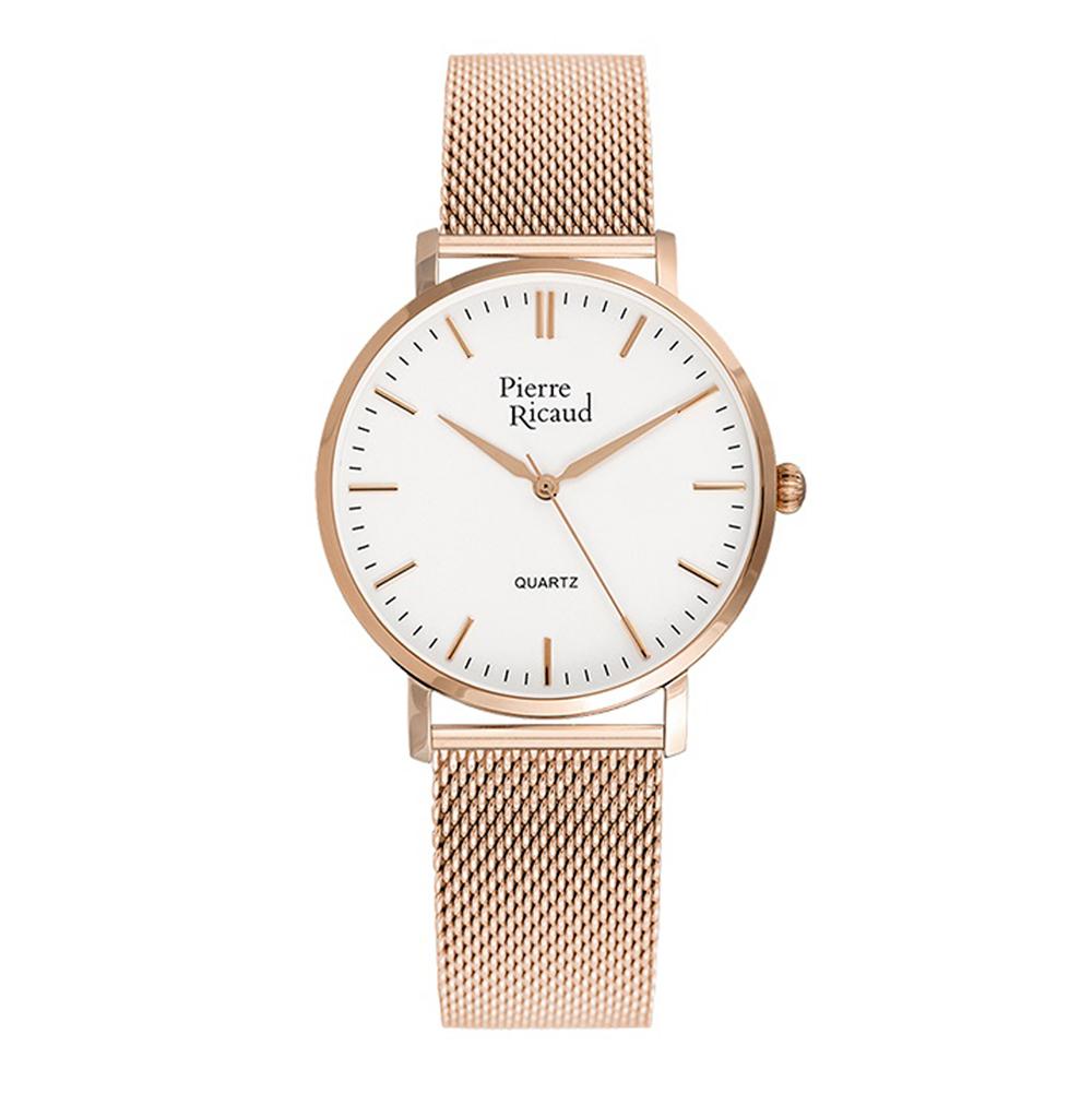 Женские часы P51082.9113Q на стальном браслете с розовым PVD покрытием с минеральным стеклом
