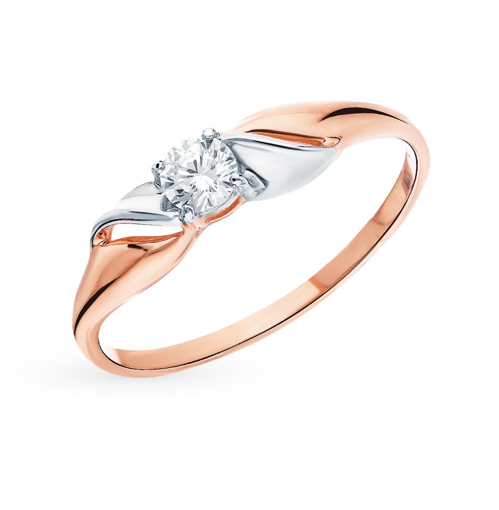золотое кольцо с фианитами SOKOLOV 51-110-00123-1*