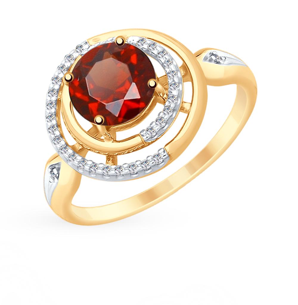 Золотое кольцо с гранатом SOKOLOV 715343* в Екатеринбурге