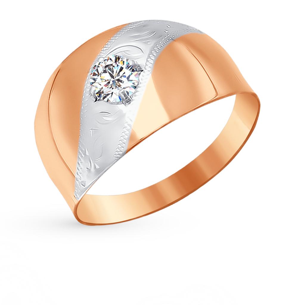 золотое кольцо с фианитами SOKOLOV 016727*