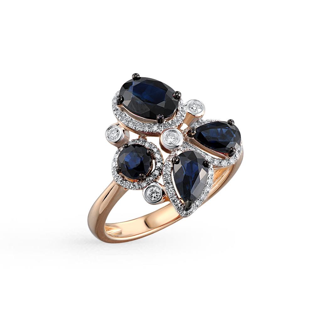 Фото «кольцо с сапфирами и бриллиантами»