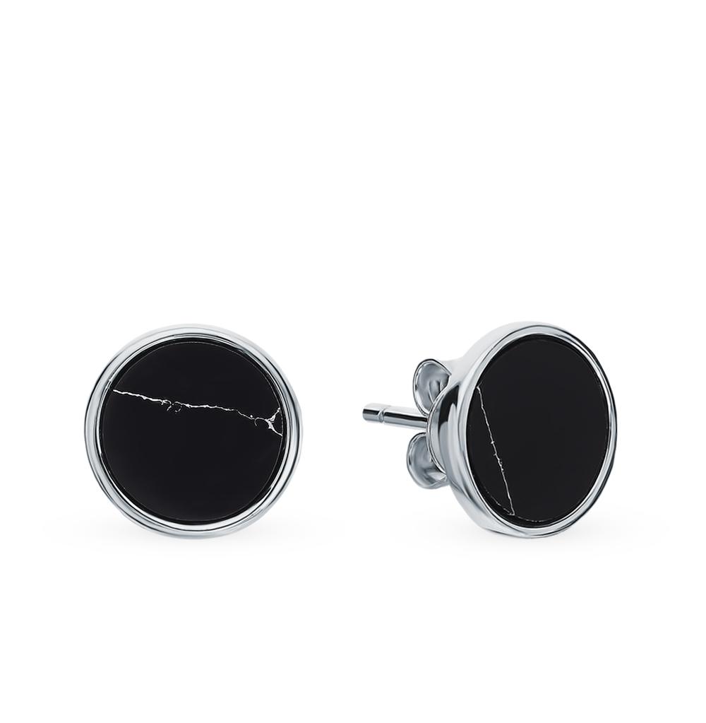 Фото «Серебряные серьги с говлитом»