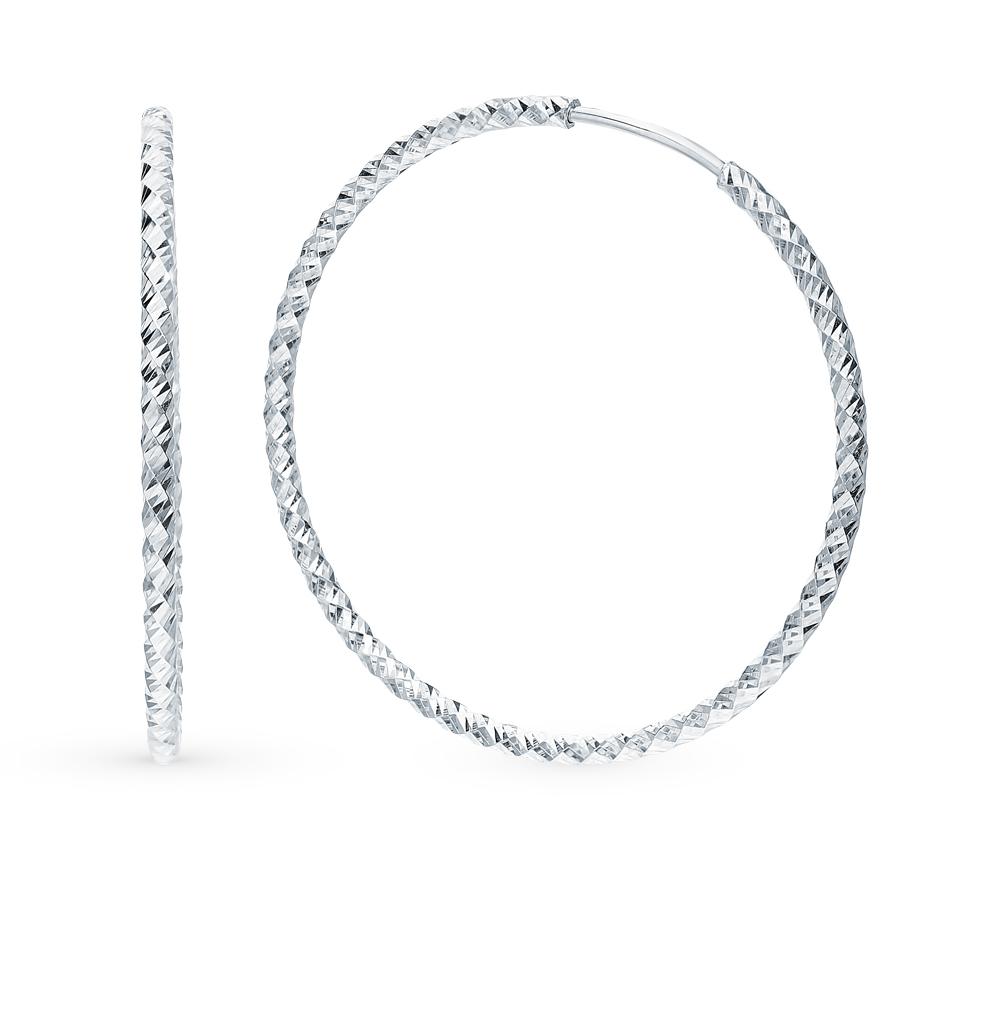 Серебряные серьги SOKOLOV 94140031 в Екатеринбурге