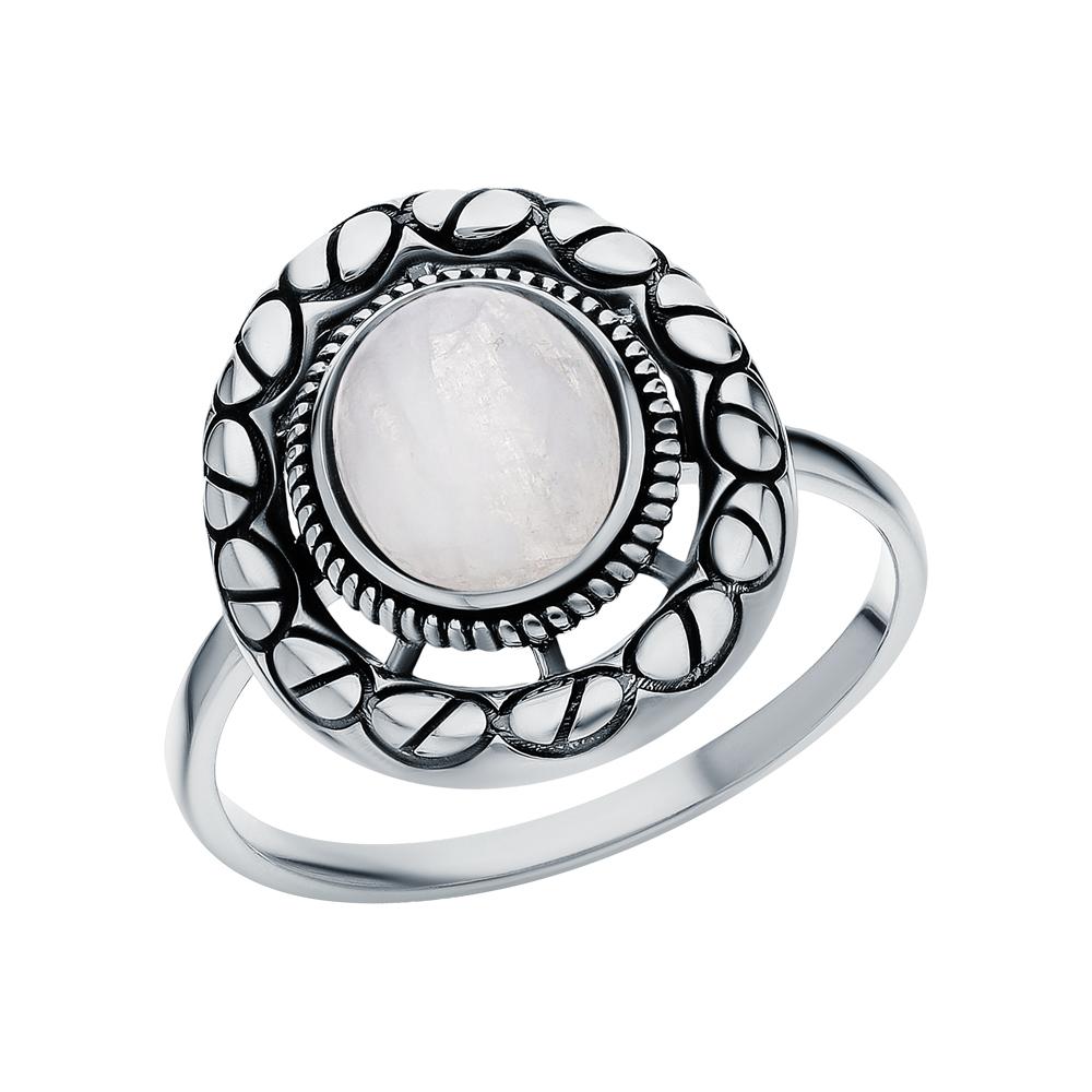 Серебряное кольцо с лунными камнями в Екатеринбурге