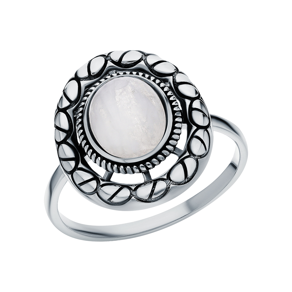 Фото «Серебряное кольцо с лунными камнями»