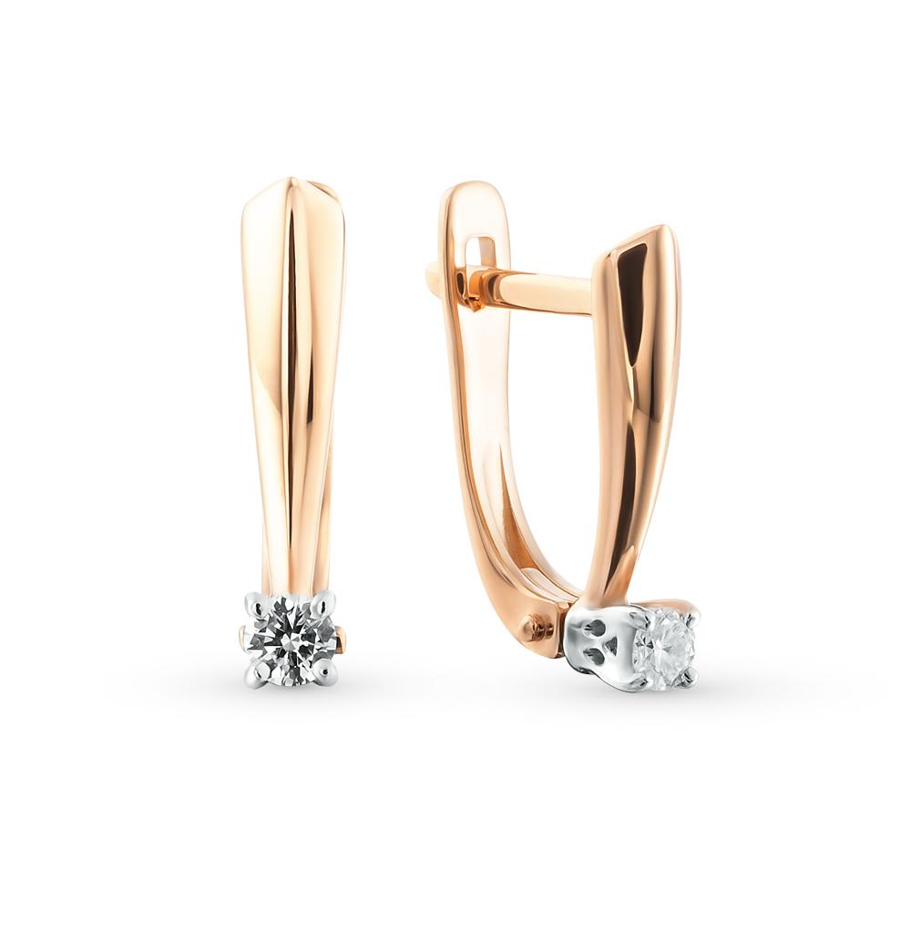 Фото «Золотые серьги с бриллиантами SOKOLOV 1020935»