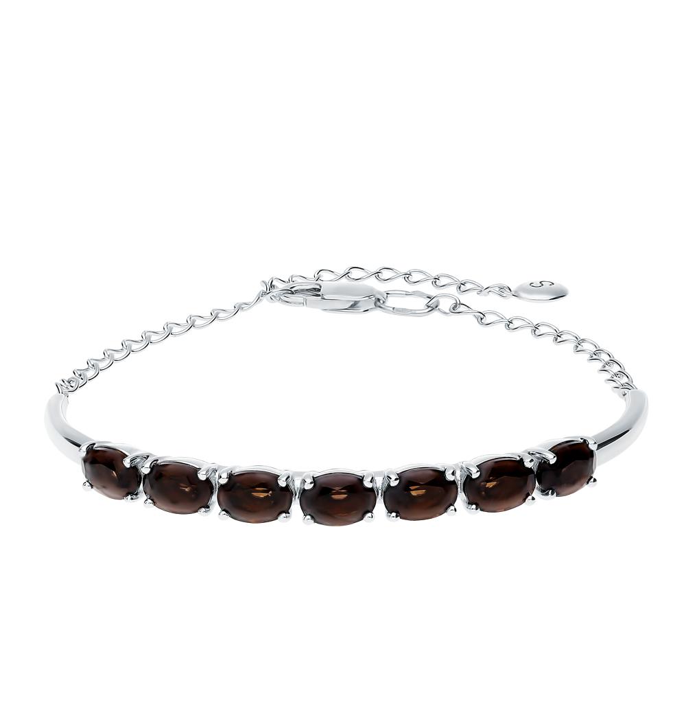 серебряный браслет с раухтопазами SOKOLOV 92050114