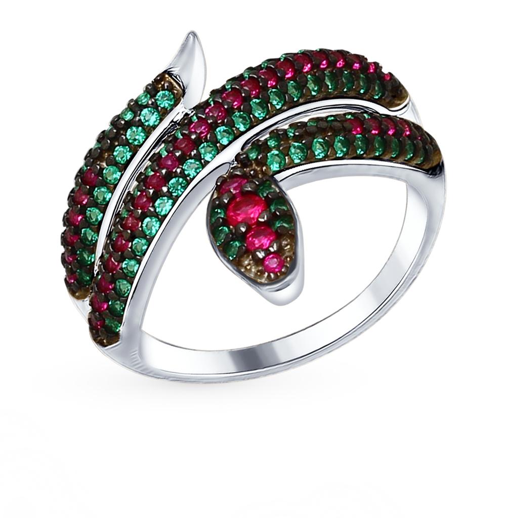 серебряное кольцо с фианитами SOKOLOV 94012579