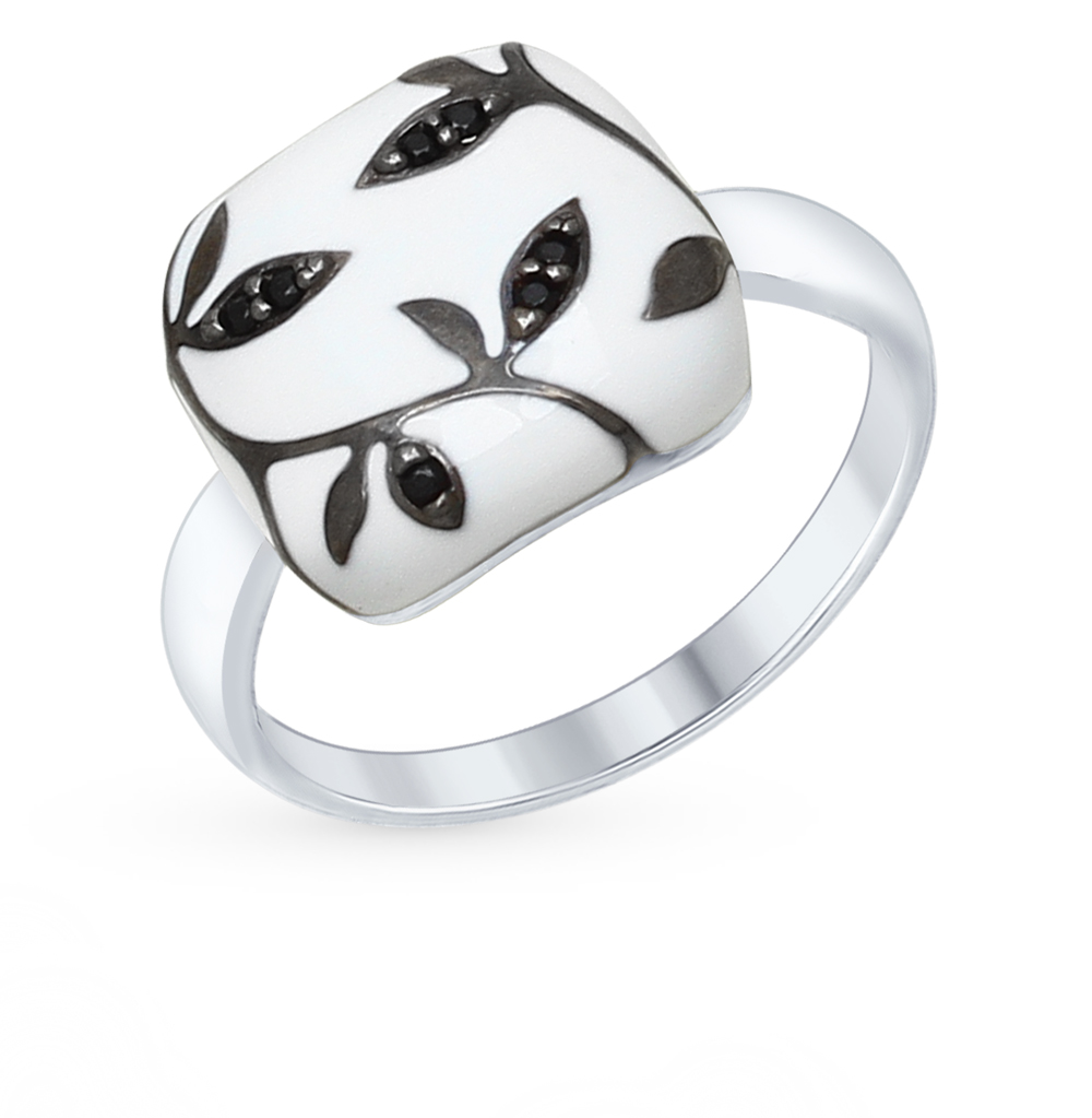 серебряное кольцо с фианитами SOKOLOV 94012559