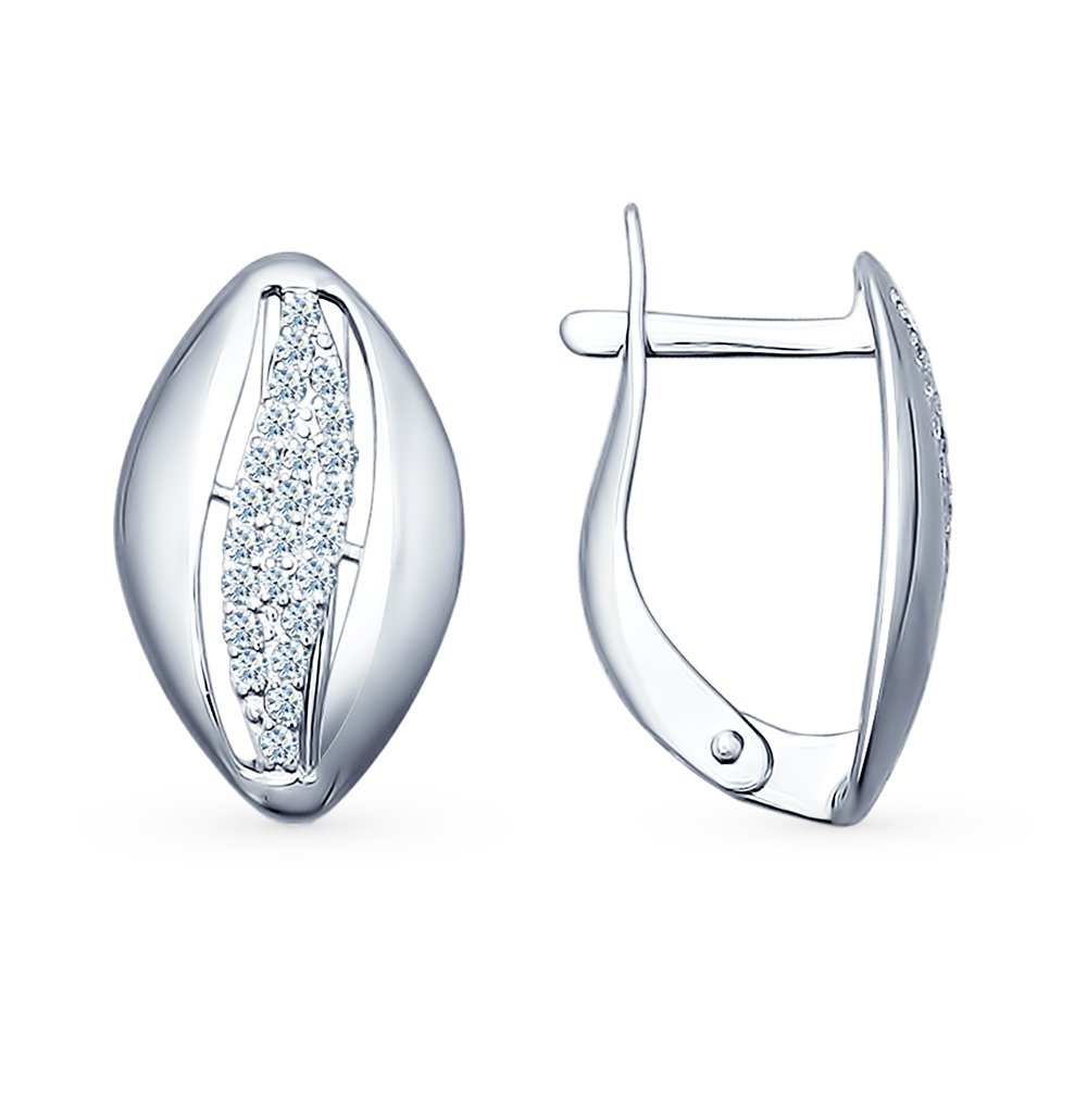 серебряные серьги с фианитами SOKOLOV 94021733