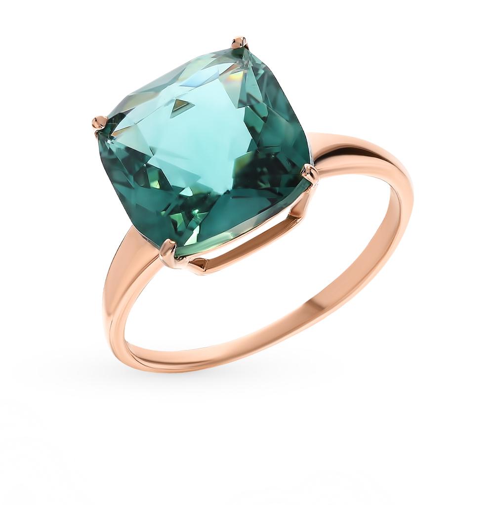Золотое кольцо с кварцем в Екатеринбурге