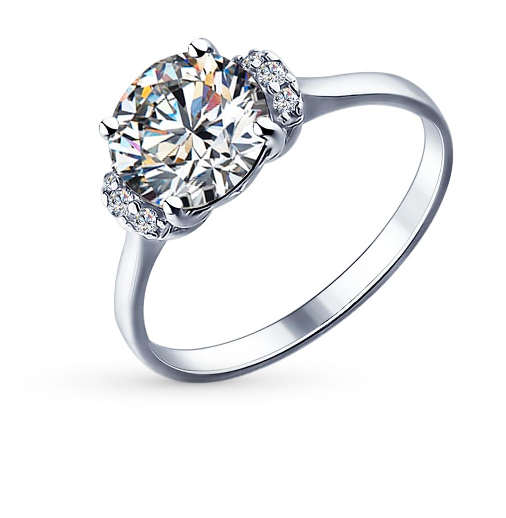 серебряное кольцо с фианитами SOKOLOV 89010018