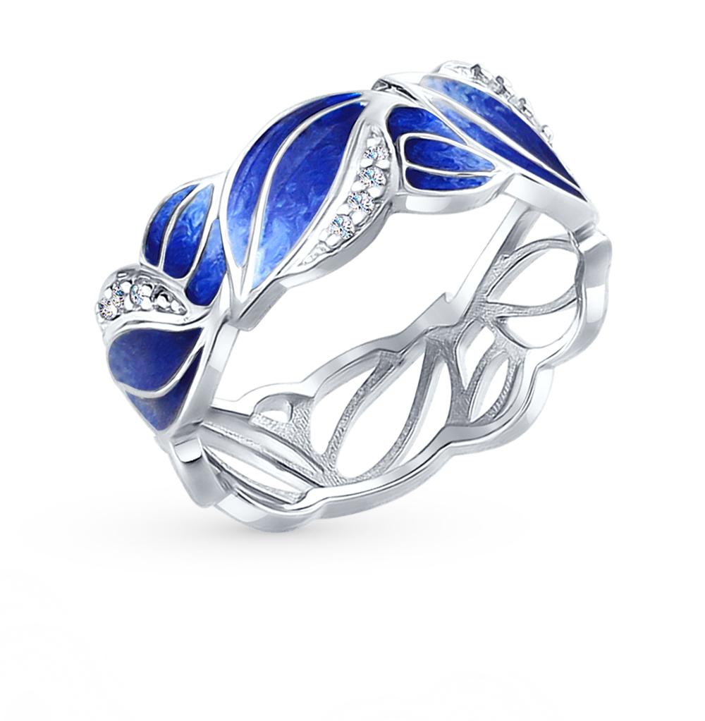 серебряное кольцо с фианитами SOKOLOV 94012252