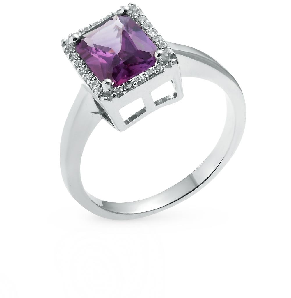 Фото «серебряное кольцо с фианитами и александритами синтетическими»