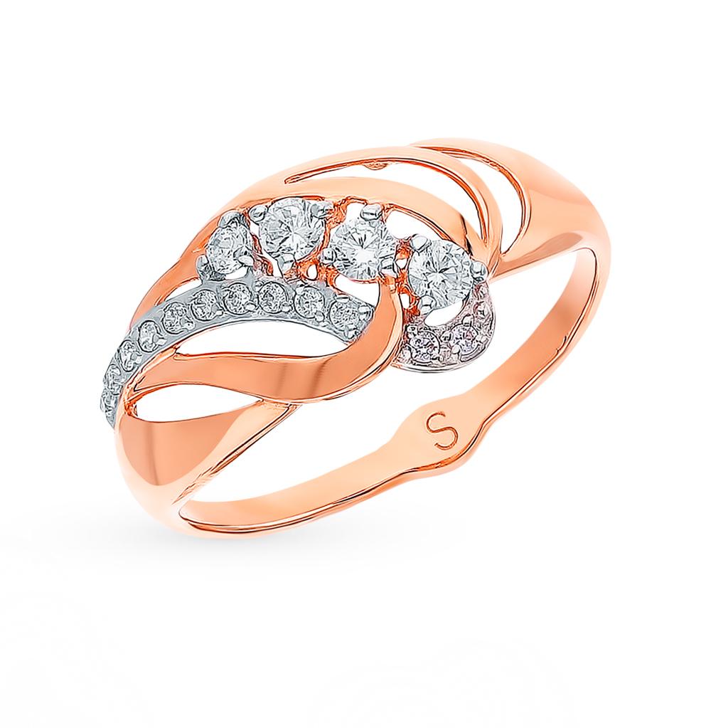 Фото «Золотое кольцо с фианитами SOKOLOV 018035*»