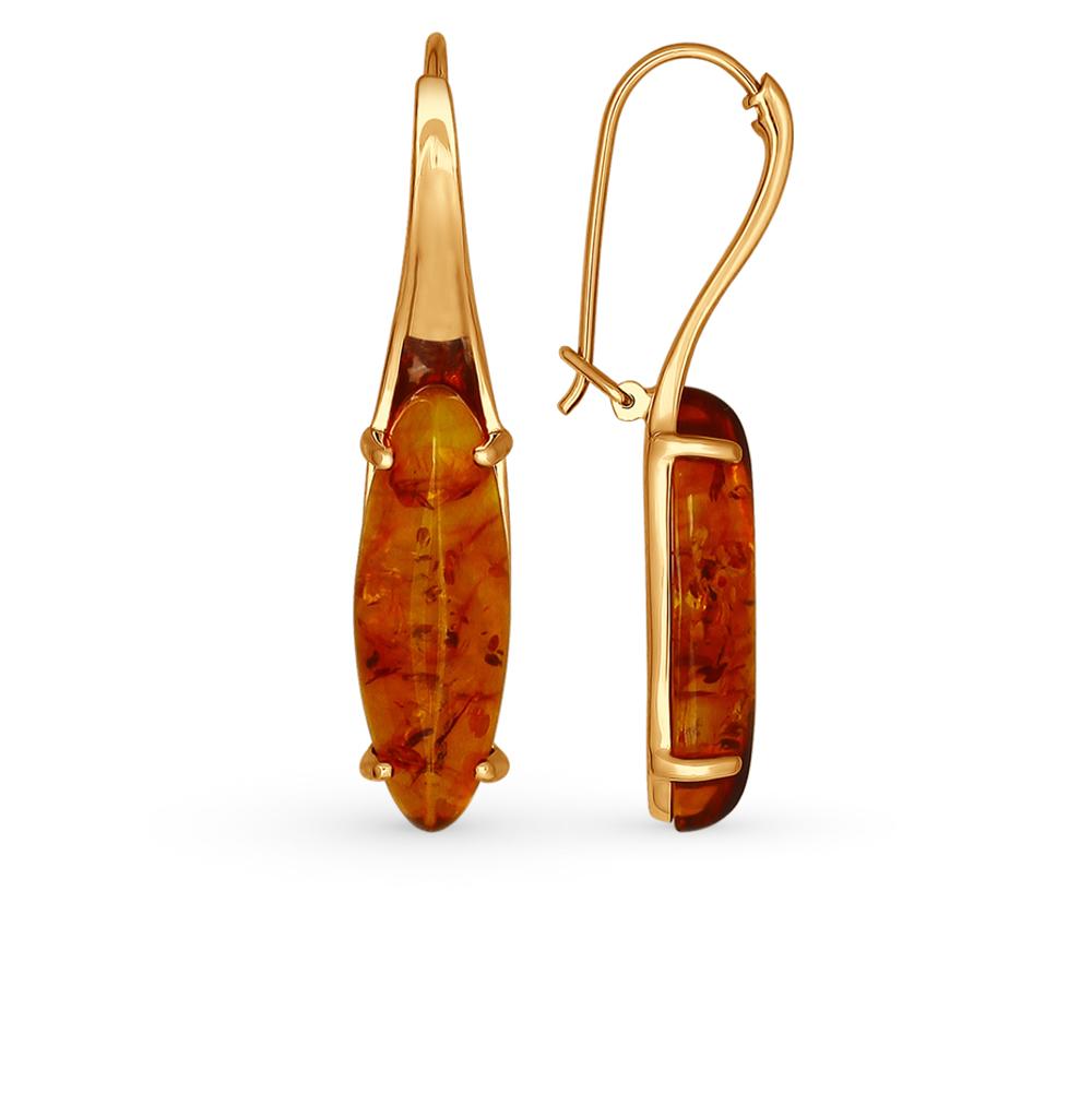 Фото «Серебряные серьги с янтарем SOKOLOV 83020035»