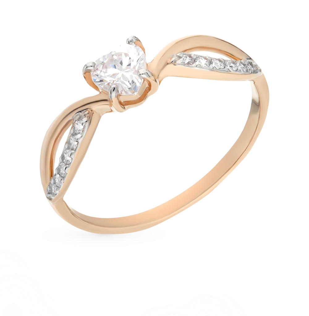 Фото «Золотое кольцо с фианитами SOKOLOV 017434*»