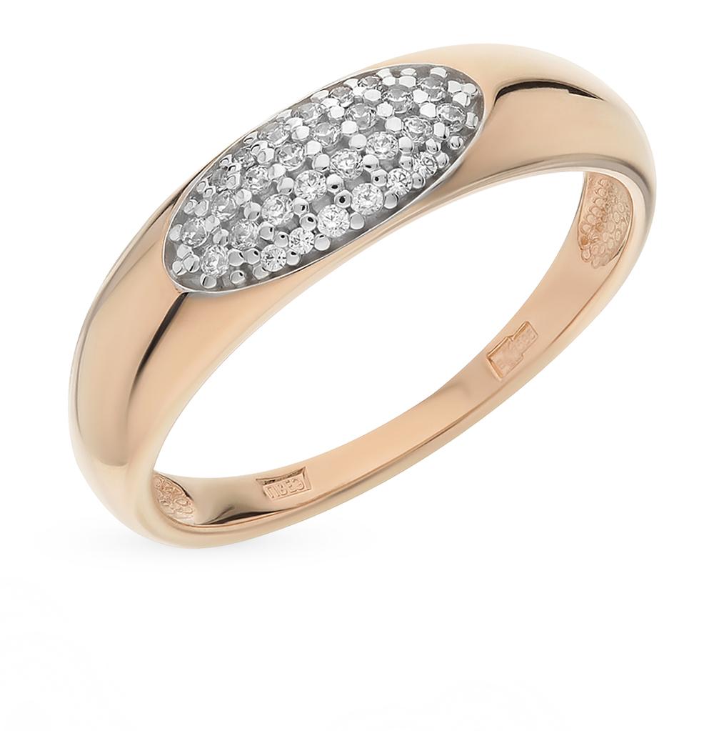золотое кольцо с фианитами SOKOLOV 016591*