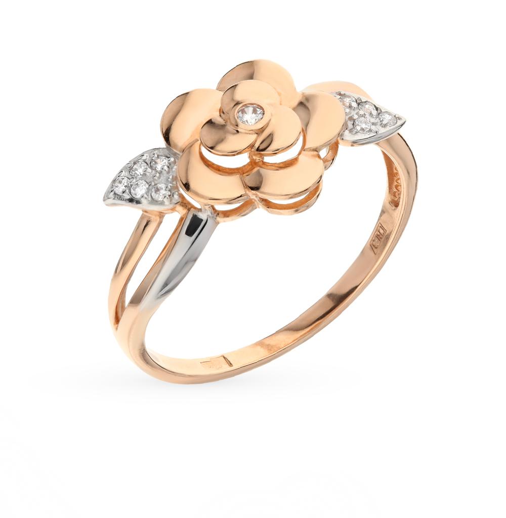 Золотое кольцо с фианитами SOKOLOV 017144* в Санкт-Петербурге