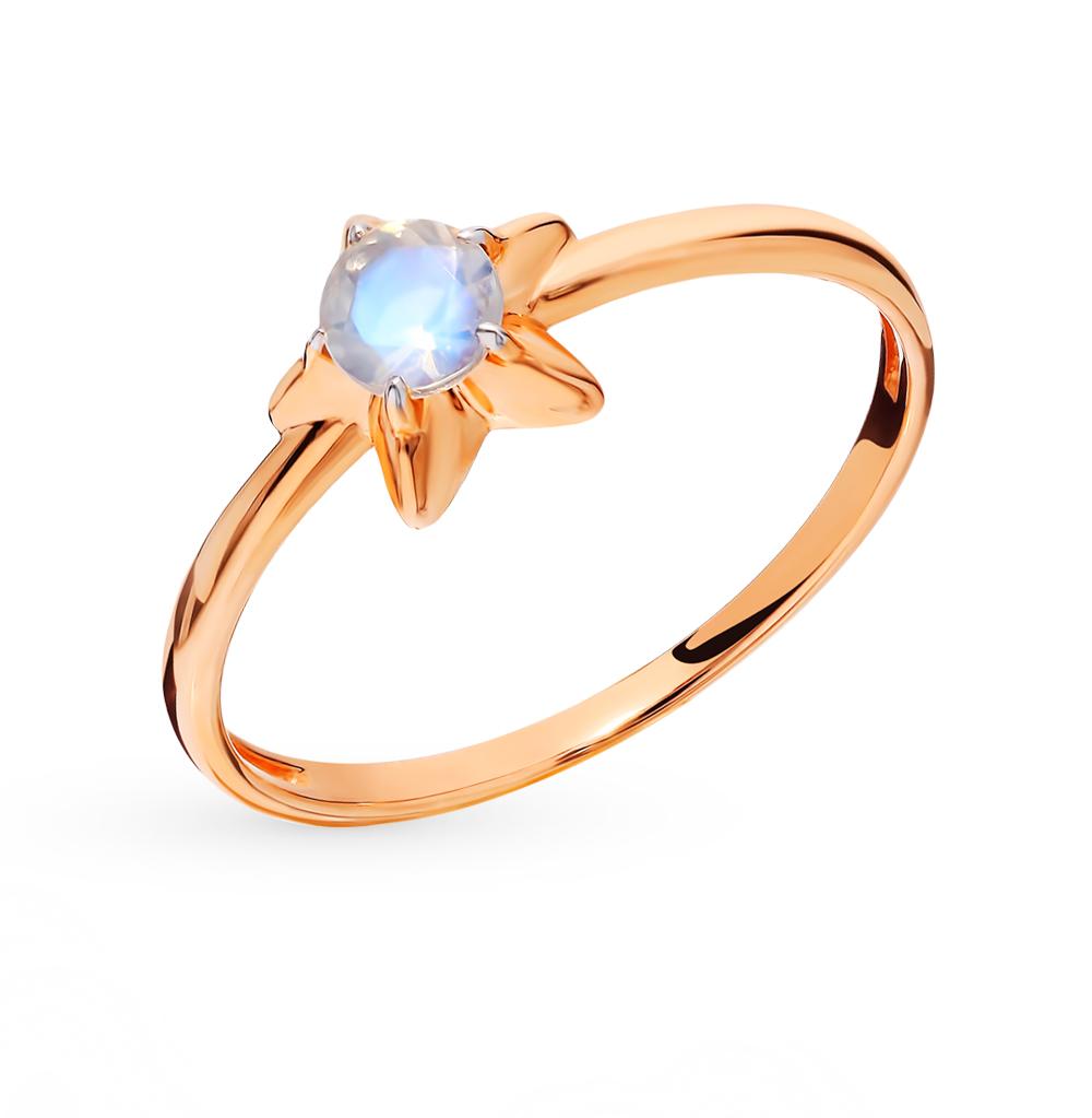 золотое кольцо с лунными камнями