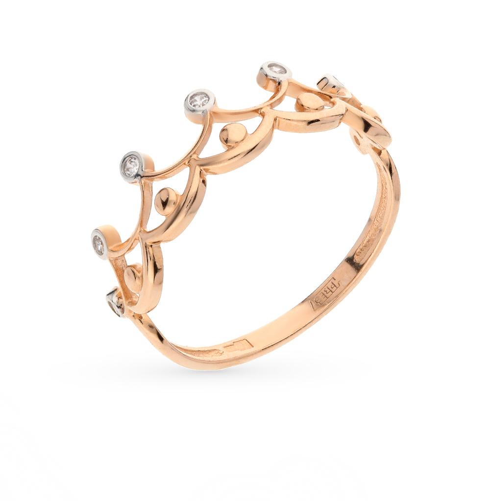 золотое кольцо с фианитами SOKOLOV 016772*