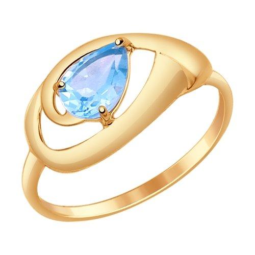 Фото «Золотое кольцо с топазами SOKOLOV 714637*»