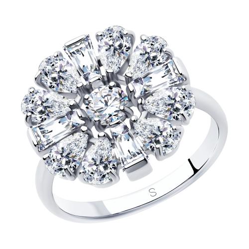 Фото «Серебряное кольцо с фианитами SOKOLOV 94013054»