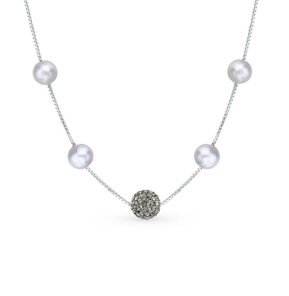 Фото «Серебряное шейное украшение с жемчугом»