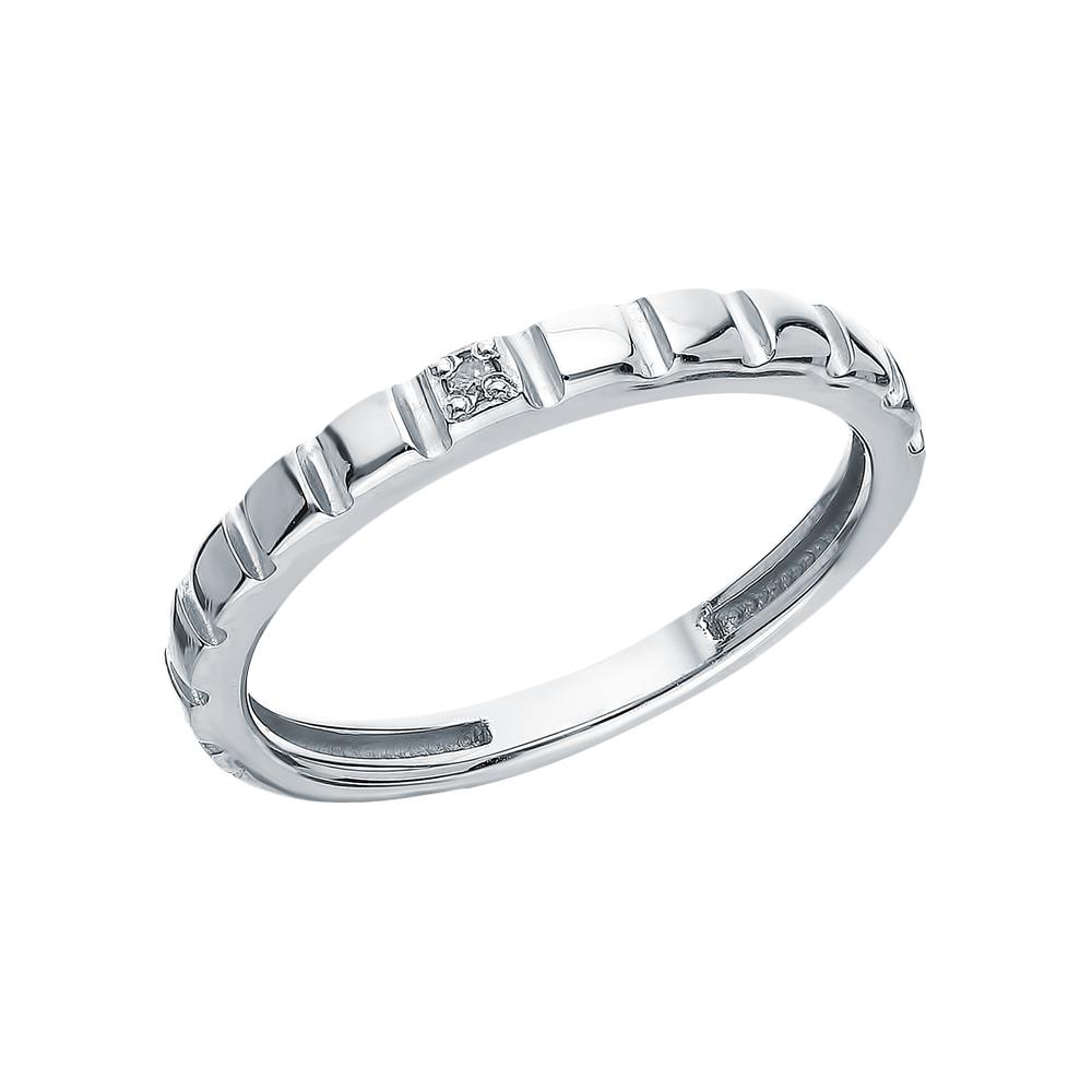 Серебряное кольцо с бриллиантами АЛЬКОР 01-1903/000Б-00: белое серебро 925 пробы, бриллиант — купить в интернет-магазине SUNLIGHT, фото, артикул 155228