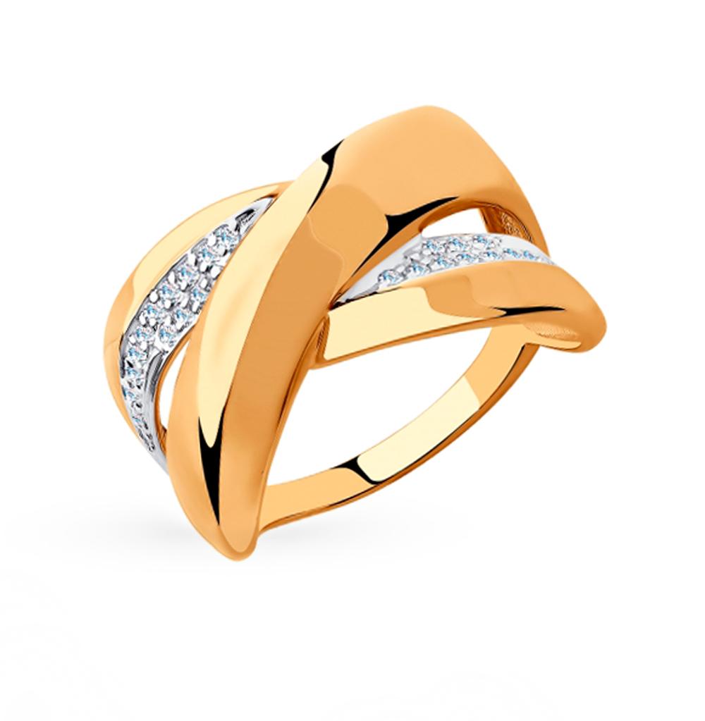 Фото «Золотое кольцо с фианитами SOKOLOV 018279»