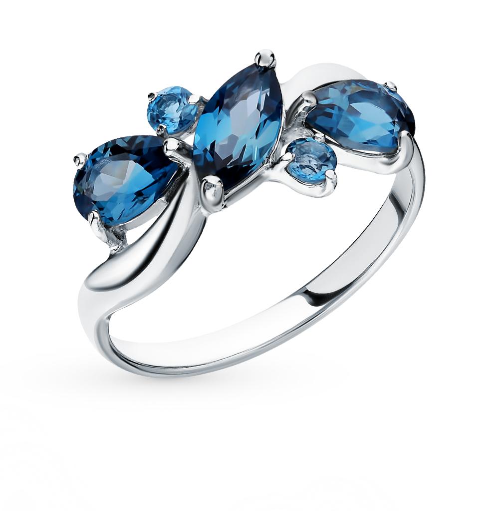 серебряное кольцо с топазами SOKOLOV 92011657