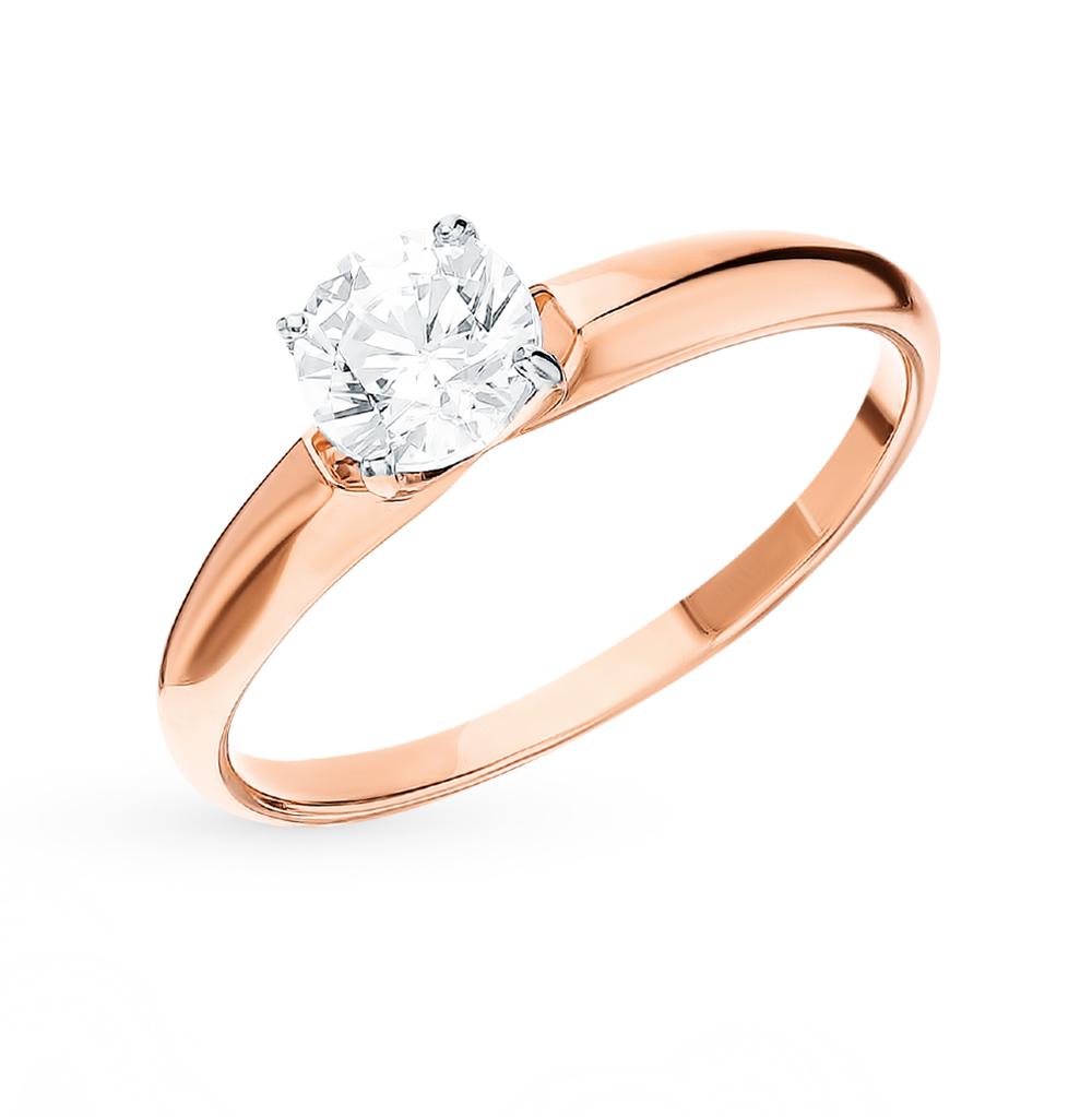 золотое кольцо с фианитами SOKOLOV 81010438