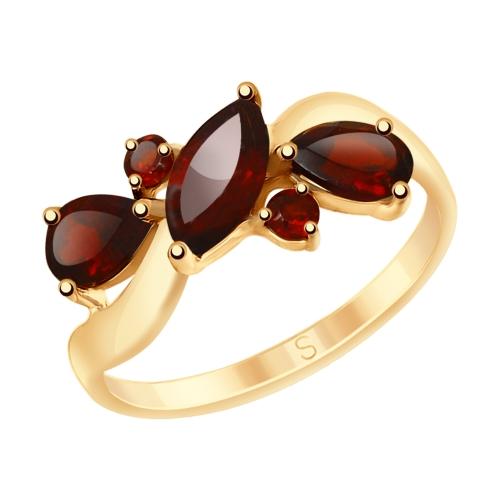 Фото «Серебряное кольцо с гранатом SOKOLOV 92011659»
