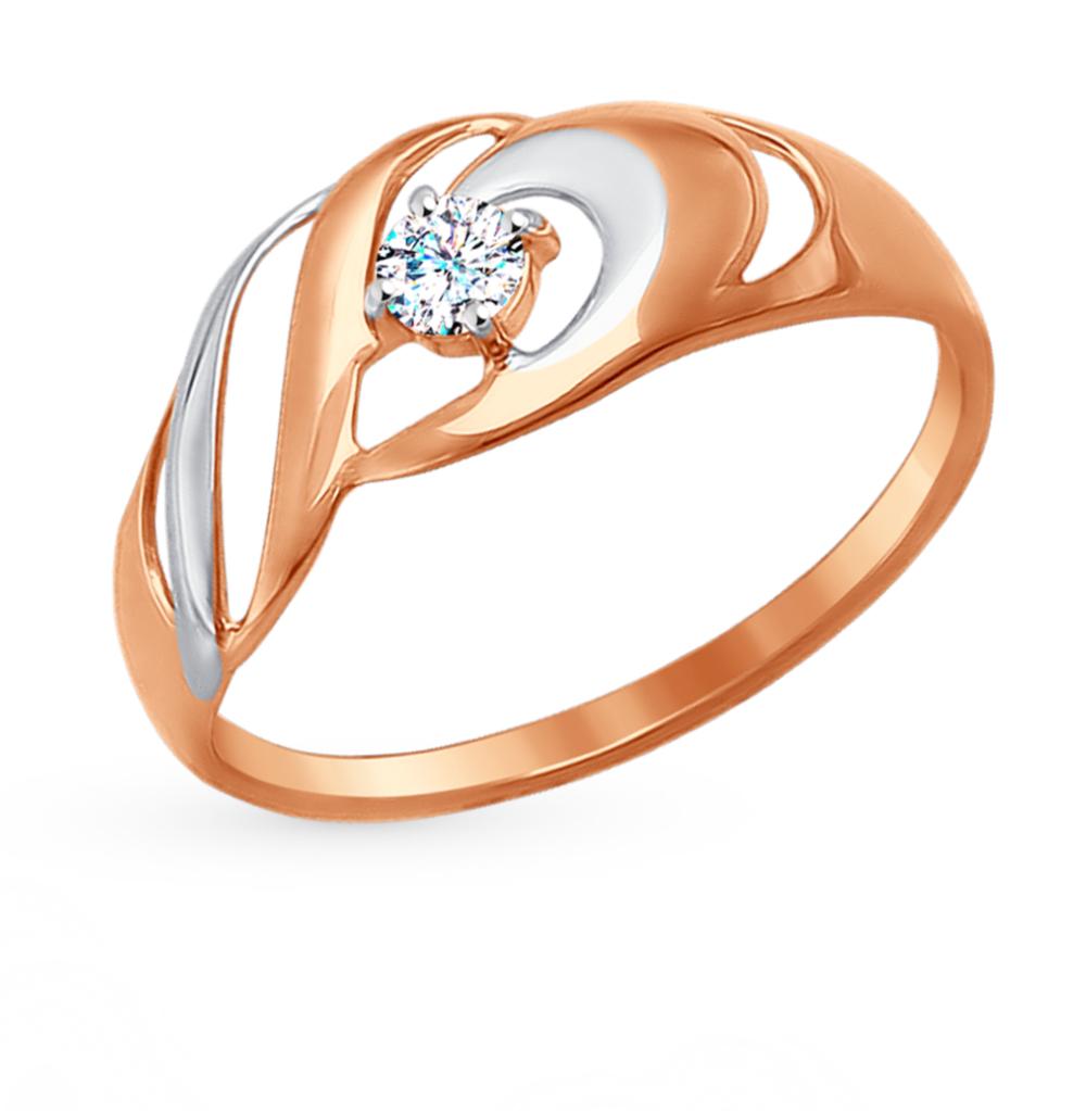Золотое кольцо с фианитами SOKOLOV 017256* в Екатеринбурге