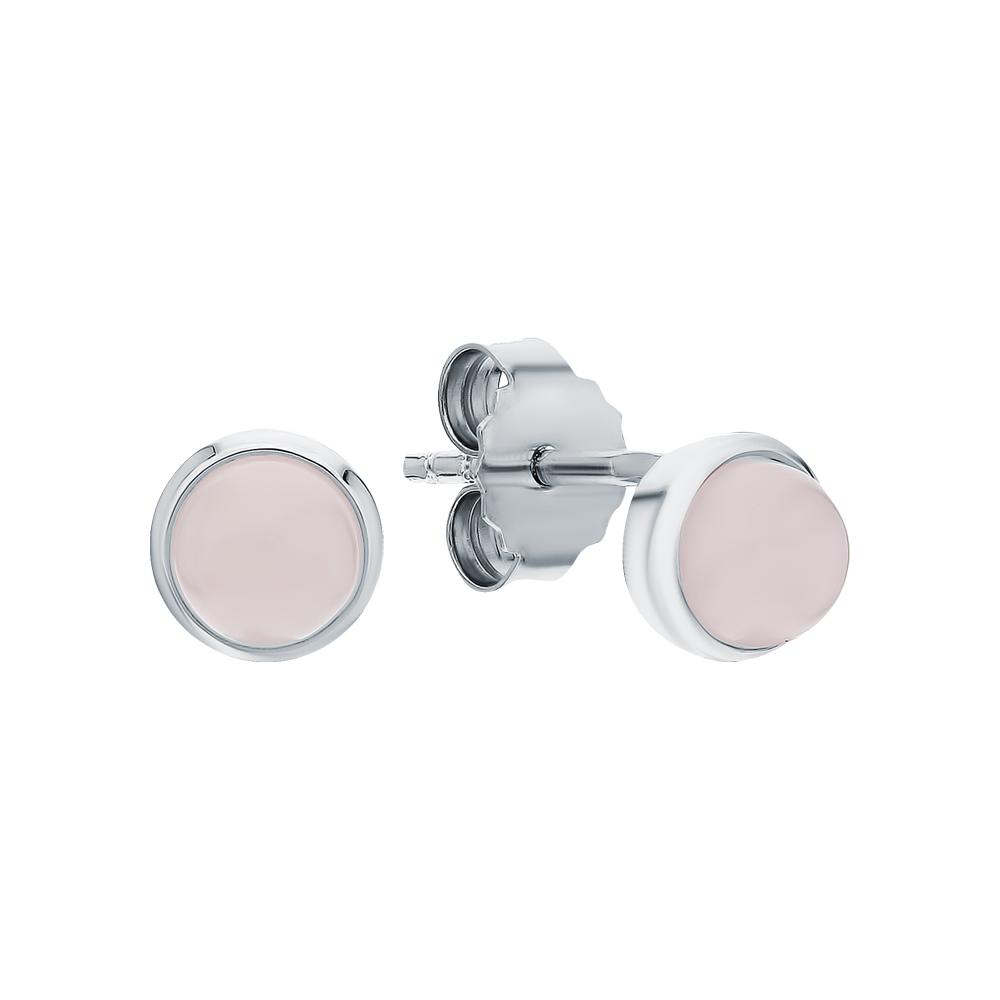 Фото «Серебряные серьги с кварцем»