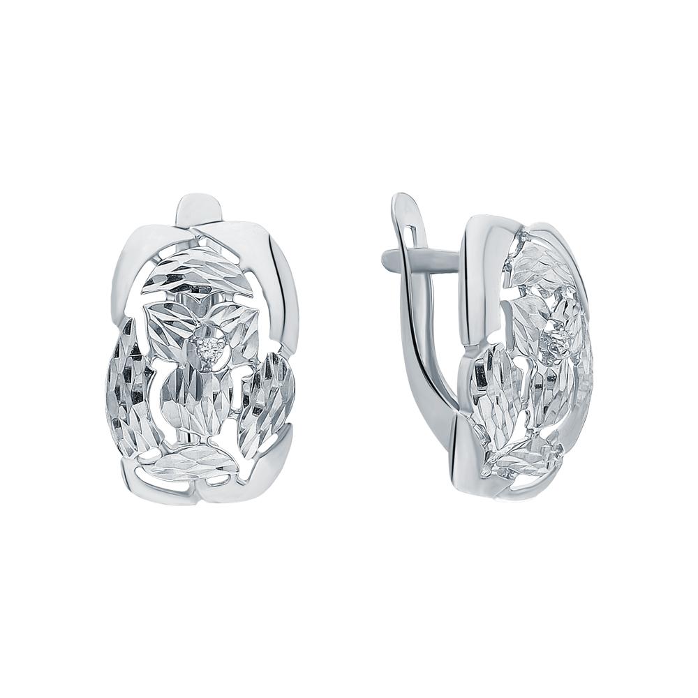 Фото «Серебряные серьги с кубическим цирконием»