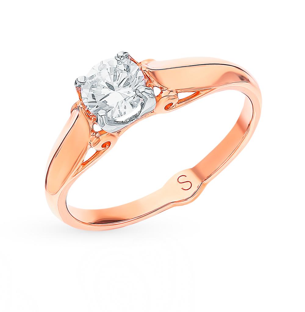 Фото «Золотое кольцо с фианитами SOKOLOV 018061*»