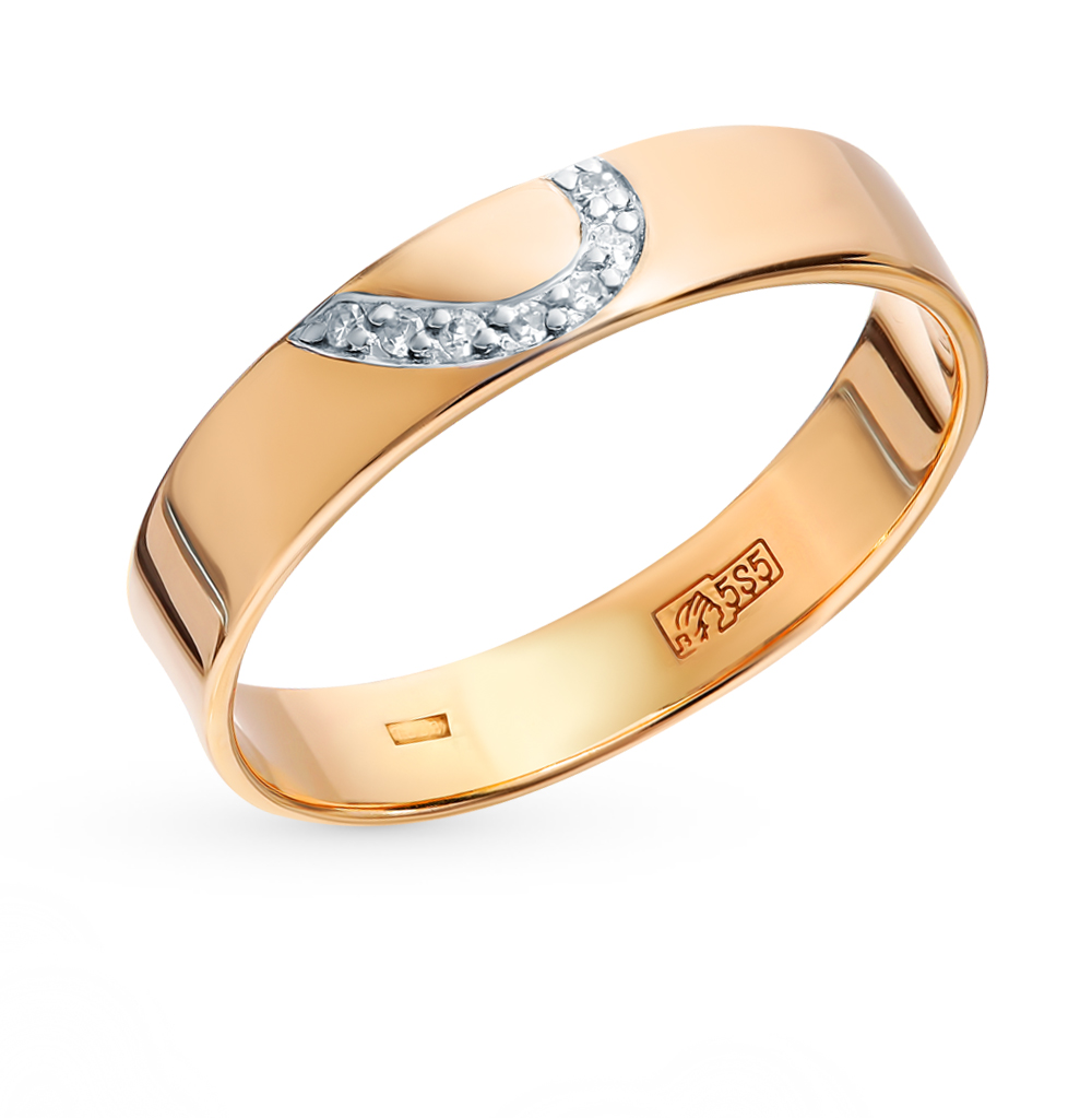 Золотое кольцо с бриллиантами EFREMOV К1317907   красное и розовое ... ee0b65ce5d2