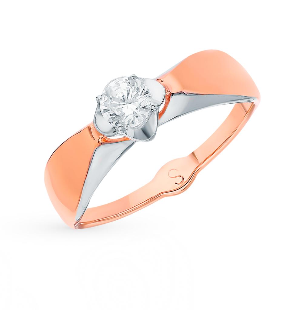 Фото «Золотое кольцо с фианитами SOKOLOV 017839*»