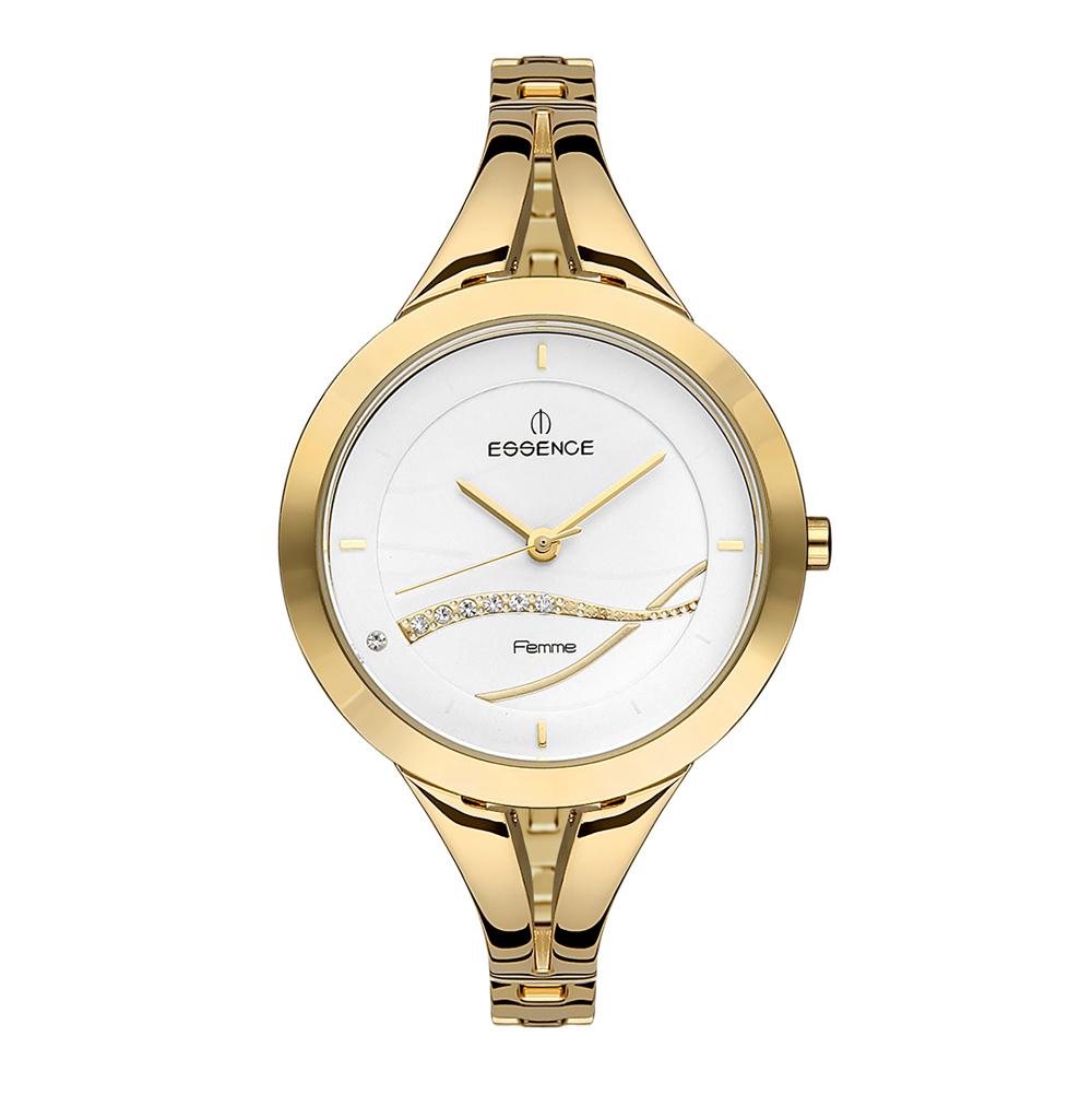 Фото «Женские часы D1047.130 на стальном браслете с PVD покрытием с минеральным стеклом»