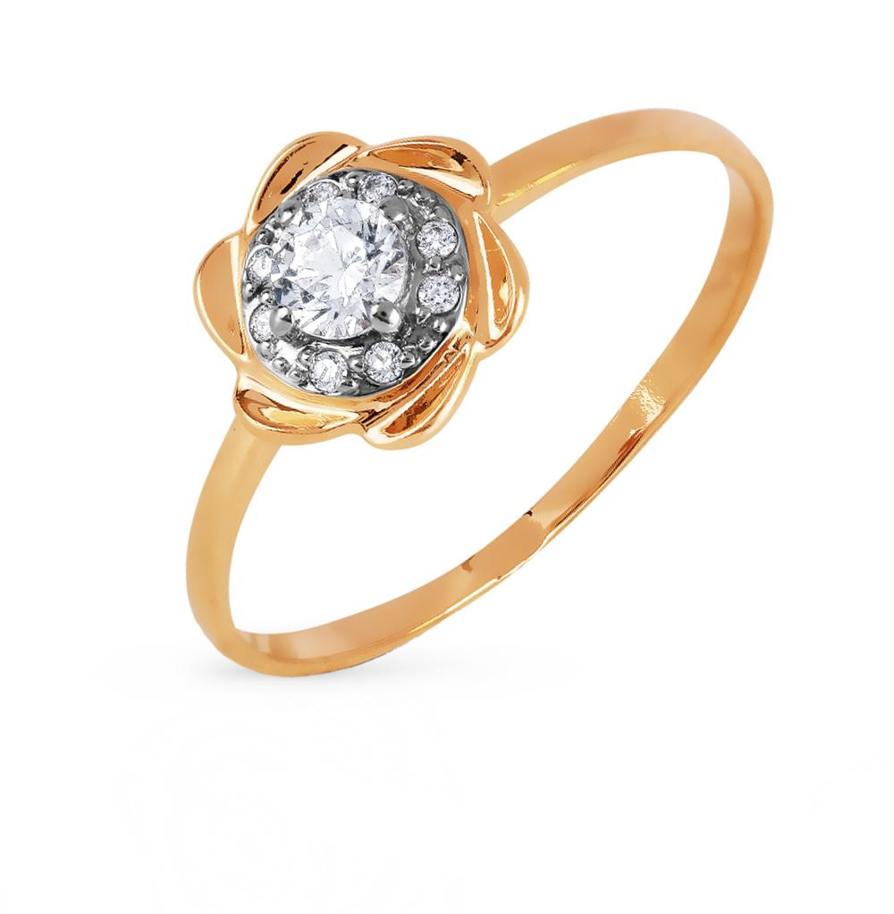 Золотое кольцо с фианитами swarovski в Санкт-Петербурге