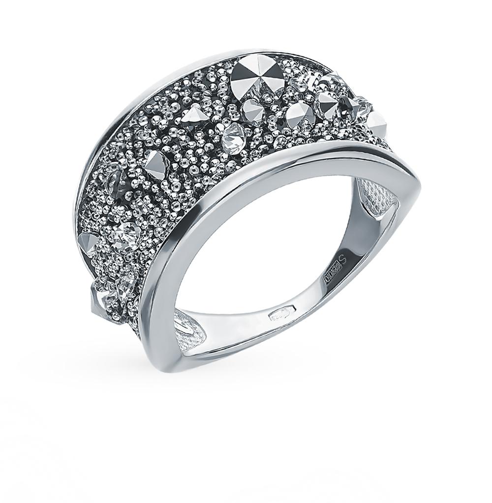 Серебряное кольцо с кристаллами SOKOLOV 94013087 в Санкт-Петербурге