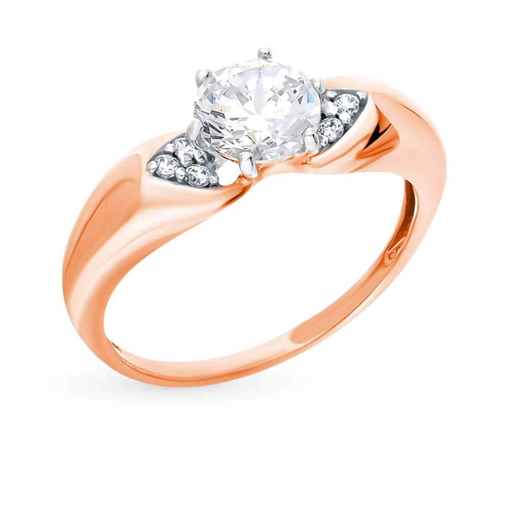 Фото «Золотое кольцо с фианитами SOKOLOV 016993*»