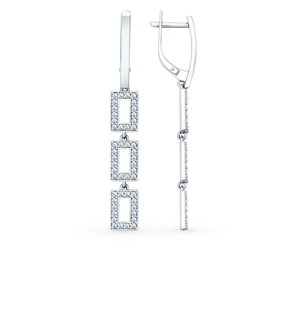 серебряные серьги с фианитами SOKOLOV 94022074