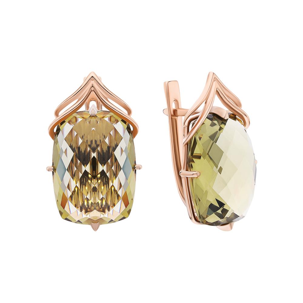 Фото «Золотые серьги с кварцем»