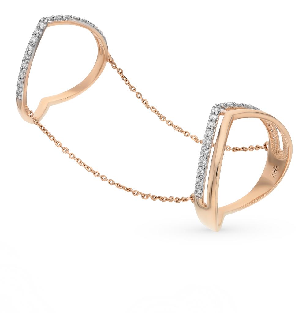 Золотое кольцо с фианитами SOKOLOV 017060* в Екатеринбурге