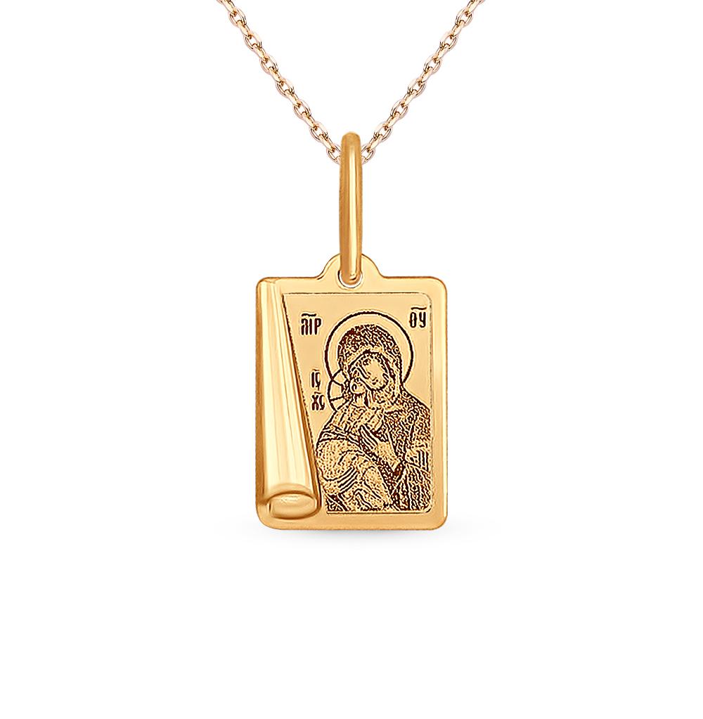 золотая подвеска SOKOLOV 104001*