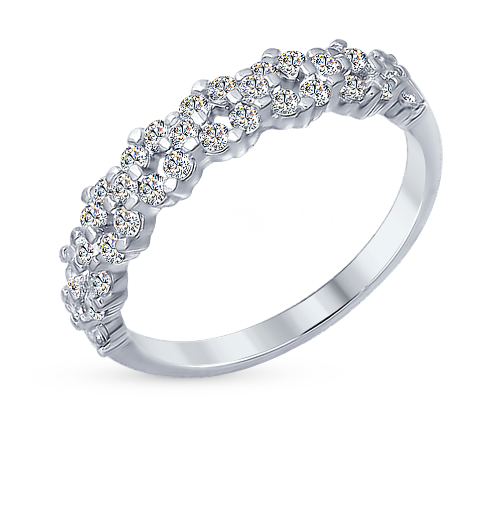 Фото «Серебряное кольцо с фианитами SOKOLOV 94012254»