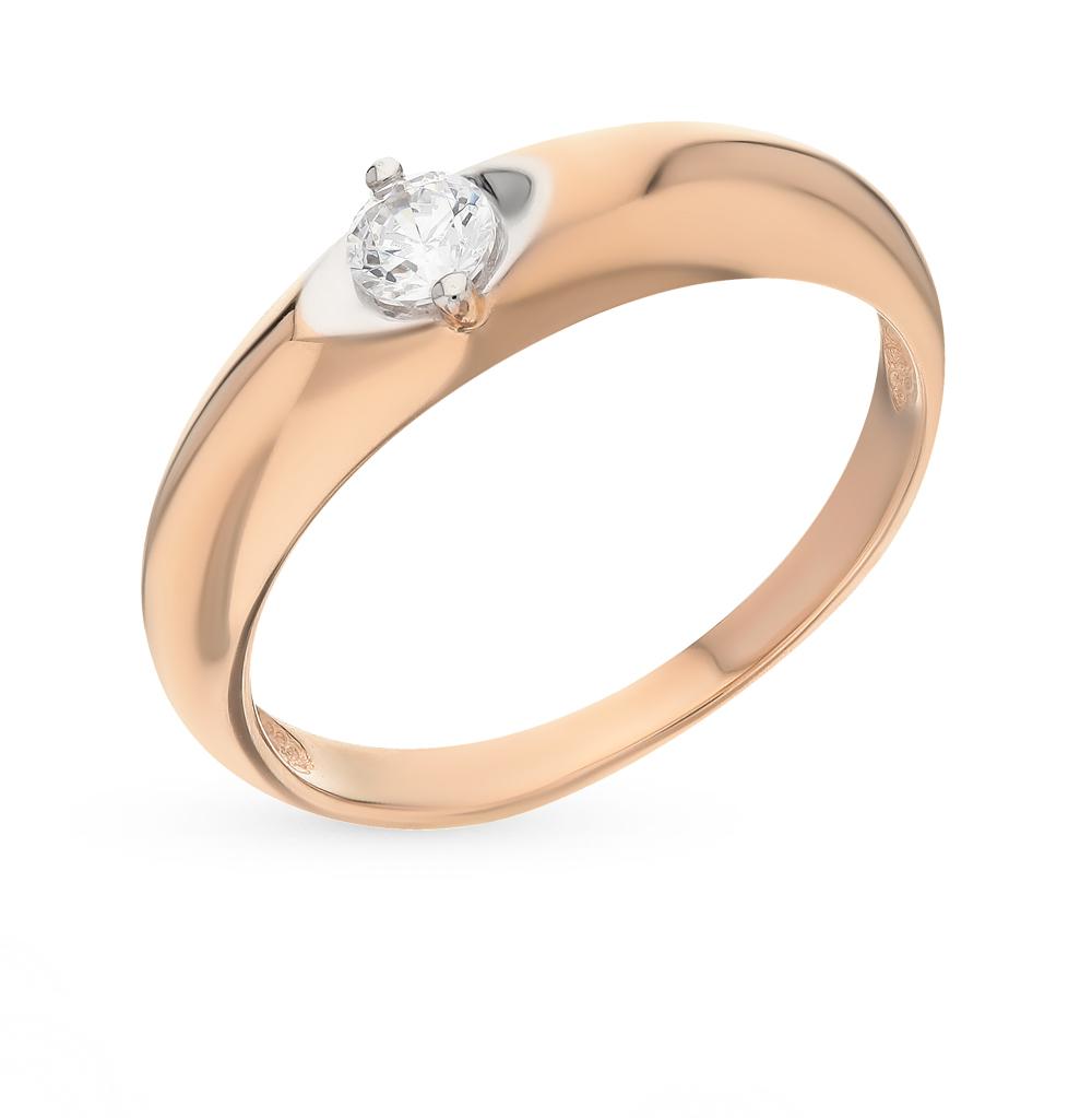 золотое кольцо с фианитами SOKOLOV 81010210*