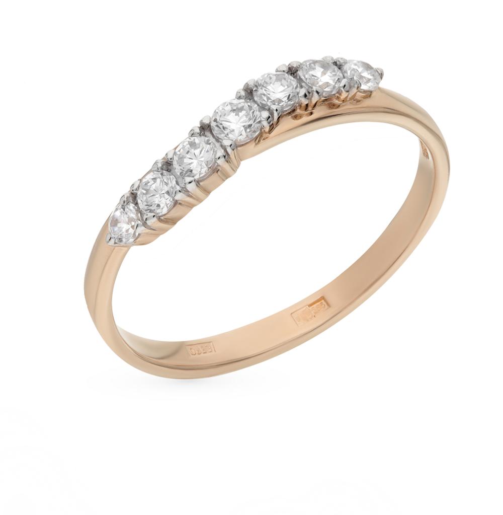 золотое кольцо с фианитами SOKOLOV 011261*